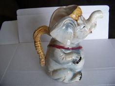 VINTAGE CERAMIC---ELEPHANT PITCHER --MADE IN JAPAN-NIPPON YOKO BOEKI ???