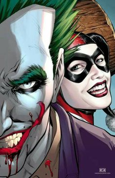 Joker and Harley by Mike S Miller