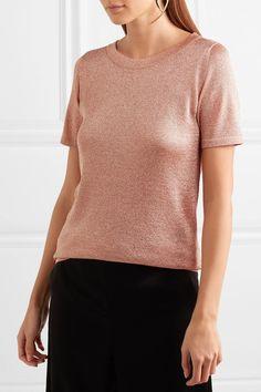 Missoni - Metallic Stretch-knit T-shirt - Pink