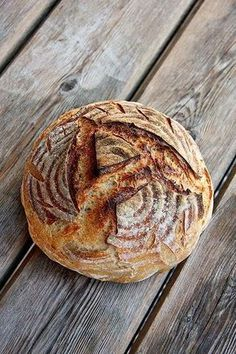 My best wheat sourdough bread to date, completely without baker's yeast. Easy Bread Recipes, Flour Recipes, Cooking Recipes, Pan Bread, Bread Baking, Bakers Yeast, Kenwood Cooking, Pain Au Levain, Sourdough Bread