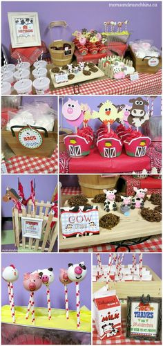 Farm Party Ideas - cute ideas for a farm animal party for kids. Food, decorating ideas, favors & more!