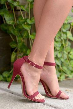 Love Sick Heels - Wine - Closet Candy Boutique