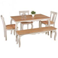 Küchentisch shabby chic  Massivholztisch im Shabby Chic Design Akazie holztisch ...