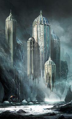 fantasy-art-engine:  A City in Flux by Dimitar Tzvetanov
