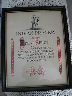 Indian Prayer