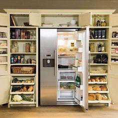 Pantry around fridge