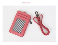 Badge Id Holder Press Pass Lanyard Card Leather Wallet oyster NeckStrap Indipink