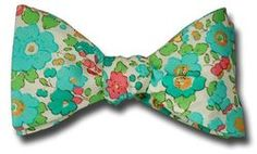Liberty of London Betsey in Blues Bow Tie