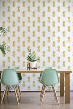 Gold Pineapple Wallpaper/ fruit Removable Wallpaper/ Self-adhesive Wallpaper / Pineapple Pattern Wall Covering - 146 by Betapet on Etsy https://www.etsy.com/listing/493696592/gold-pineapple-wallpaper-fruit-removable