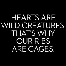 """Hearts are wild creatures, that's why our ribs are cages."" -Lord Byron"