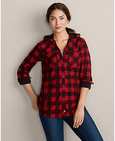Hooded flannel jacket. Eddie Bauer | Outerwear, Clothing, Shoes & Gear for Men & Women