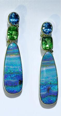 Sonho de consumo. Pelo jeito só sonho mesmo :( Another nice stripy pair of earrings....Jennifer Kalled