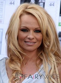 Lace Front 2013 New Long Wavy Blonde Remy Sketchy Wigs