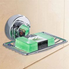 Stainless Steel Dish Suction Cup Box Soap Holder