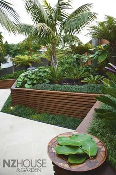 Ansin Garden, NZ House & Garden Magazine - for edges of seating and planter boxes