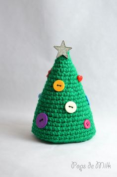 Get in the holiday mood and make this little Crochet Christmas Tree for your home or office!