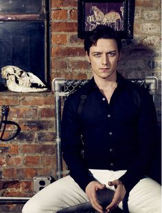 "James McAvoy. Every time I see his face I think of ""Becoming Jane"" with that stare. ohhh maannn lol"