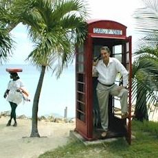 the phone booth outside the Siboney Beach Club, Antigua.  Siboney is a great place for couples to stay.