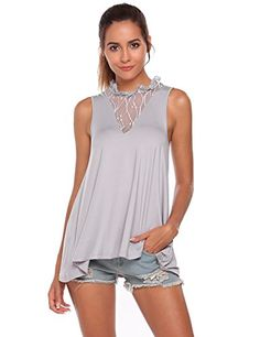 TM OutTop Womens Strappy Tank Top Ladies Summer Sleeveless Silk Satin Camisole Plain Blouse Casual Top