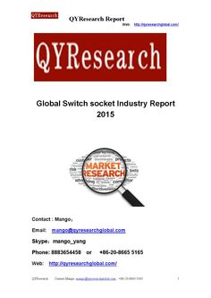 Global switch socket industry report 2015