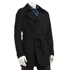 Marc Anthony Washed Trench Coat - Men's
