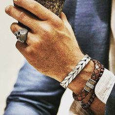 Accessories #mensstyle #menstyle #menssuits #gq #gqstylehunt #menswear #mensfashion #mensjewelry #mensbracelet