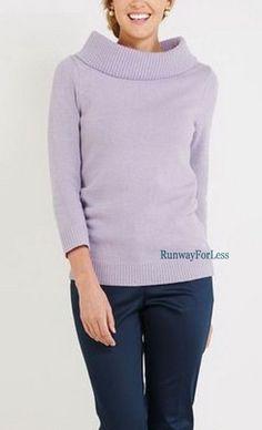 New $135 VINEYARD VINES Small Petal Lilac Purple Portrait Collar Sweater Top #VineyardVines #CowlNeck