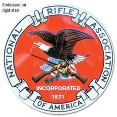 Metal NRA Shield Sign