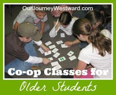Co-op Class Ideas for Older Students | Our Journey Westward