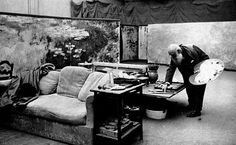 Photographs of Monet in his Studio at Giverny; by Henri Manuel