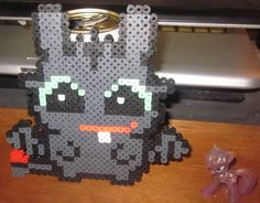 How To Train Your Dragon - Toothless perler beads