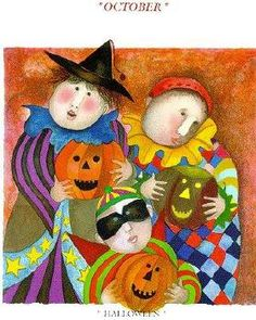 """Graciela Rodo Boulanger    OCTOBER La Fete des Rois 1999 Limited Edition Lithograph Image: 8-5/8"""" x 8-5/8"""" Paper: 15"""" x 11-5/8"""" Signed and numbered by the artist October"""