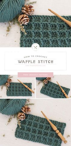 How To: Crochet The Waffle Stitch – Easy Tutorial by Hopeful Honey How To: Crochet The Waffle Stitch – Easy Tutorial by Hopeful Honey,Crafts to Do! Learn how to crochet the waffle stitch with. Crochet Waffle Stitch, Easy Crochet Stitches, Crochet Stitches For Beginners, Beginner Crochet Tutorial, Beginner Crochet Projects, Tunisian Crochet, Crochet Basics, Learn To Crochet, Crochet Stitch Tutorial
