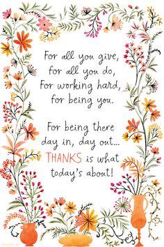 Teacher Appreciation Quotes, Employee Appreciation Gifts, Volunteer Appreciation, Teacher Quotes, Nurses Week Quotes, Appreciation Message, Thank You Poems, Thank You Gifts, Coworker Thank You Gift