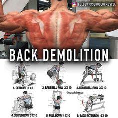 Huge back exercises