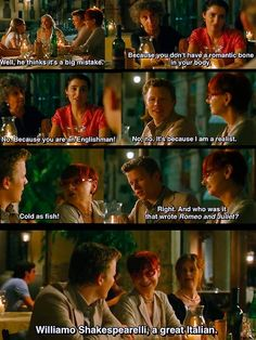 Dialogue from Letters to Juliet