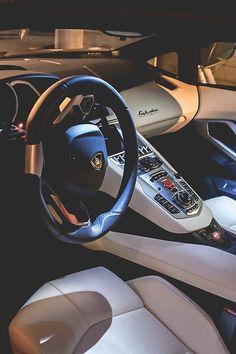 #Lamborghini Aventador...sick inside.....too much CREAM for Me, but still...BAD to the BONE..#Lambo #aventador
