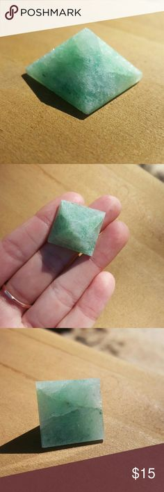 *sale* Green Aventurine Healing Pyramid A single piece of green aventurine cut in the shape of a pyramid. Pyramid shaped stones and minerals can be used in the center of crystal grids to focus energy. CREATIVITY. IMAGINITY. INDEPENDENCE. PROSPERITY. CALMNESS. HEALS CONGESTION. Sourced through my wholesale supplier Third Eye Crystals. Use for meditation, arts, jewelry crafting, decor, etc. covershot taken from IG Free People Jewelry