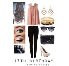 17th birthday but with blue shoes and blue shirt