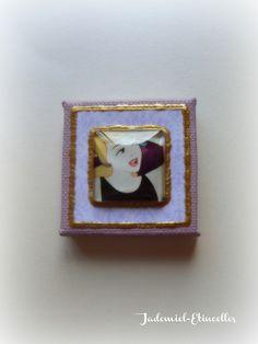 """Mini toile décorative série """" Il était une fois : Cendrillon """" n°2 : Accessoires de maison par jademiel-etincelles"""