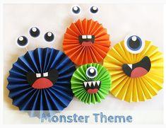 Little Monster Birthday, Monster 1st Birthdays, Monster Birthday Parties, First Birthday Parties, Birthday Party Themes, First Birthdays, Monster Decorations, Diy Halloween Decorations, Halloween Diy