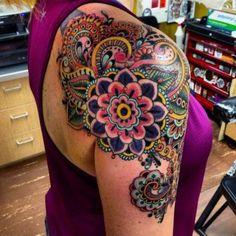 New art tattoo girl tat ideas Mandala Tattoo – Fashion Tattoos Kunst Tattoos, Neue Tattoos, Body Art Tattoos, Paisley Tattoos, Paisley Tattoo Sleeve, Paisley Tattoo Design, Tattoo Girls, Girl Tattoos, Tatoos
