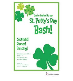 st patricks day party invitations st pattys day