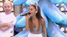 """Ariana Grande performed """"Dangerous Woman"""" on this week's """"SNL."""" The song is the first single off her new album of the same name. See the video above of Arian. Christmas Tunes, Last Christmas, Cool Music Videos, Good Music, Ariana Grande Christmas Songs, Still Picture, Dangerous Woman, Shows, Female Singers"""