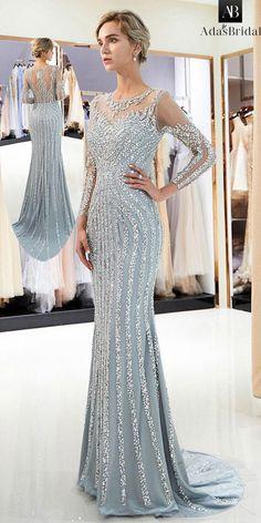 Shining Tulle Jewel Neckline Mermaid Formal Dress With Beadings 19260b38686d