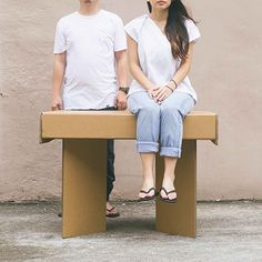 A Strong Cardboard Table Perfect For Pop-Up Shops and Exhibitions