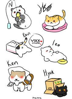 Romelia — yuumimi:  °☆ Fanart Request ☆°- VIXX as Neko...
