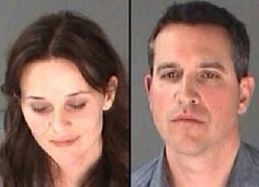 Reese Witherspoon and Jim Toth mugshots, disorderly conduct/DUI  respectively 4/24/13