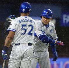 Aarom Baldiris and Yoshitomo Tsutsugoh (Yokohama DeNA BayStars)