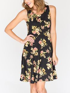 Agnes & Dora - Fisher Dress Garden Flower Soiree #ootd #lotd #agnesanddora #dress #spring #2018
